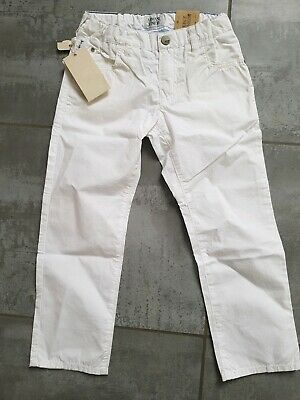 Armani Junior Jeans boys Age 4 white BRAND NEW with tags rrp 79.00