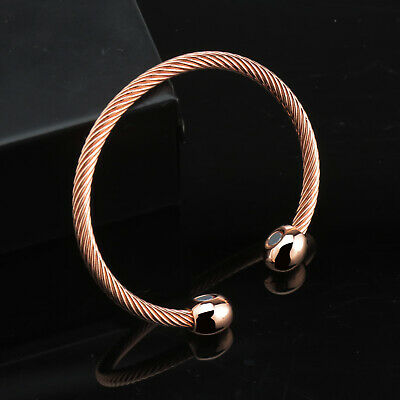 Magnetic Bracelet Magnet Bangles Copper Therapy ARTHRITIS Wristband Party Gift