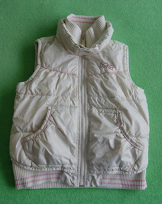 Next white ivory gilet bodywarmer with pink for girl age 9-10 years 140 cm