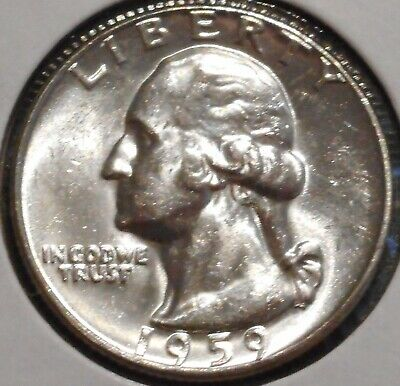 Washington Silver Quarter - 1959 - Overstock Sale! - $1 Unlimited Shipping-952