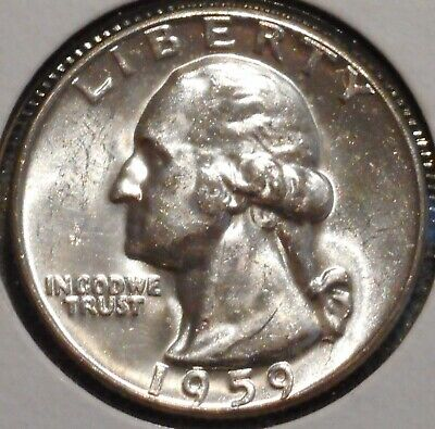 Washington Silver Quarter - 1959 - Overstock Sale! - $1 Unlimited Shipping-953