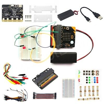 BBC Micro:bit Go Starter Kit Case Breadboard USB Cable Learn Programming Kids
