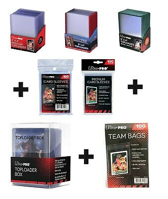 Ultra Pro Top Loaders & Card Sleeves Combo 100 Cards Sleeves And 25 Toploaders