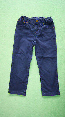 Ralph Lauren navy blue trousers jeans for girl age 5 years pink logo on the back