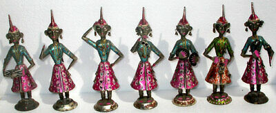 Handmade Hand Carved Antique Vintage Decorative Dolls Collectible India Crafts