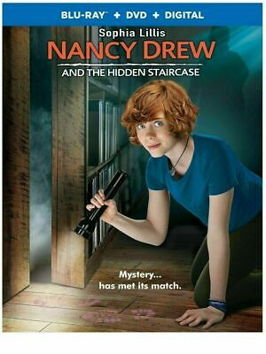 Nancy Drew and The Hidden Staircase (Blu Ray + DVD + Digital, 2019) Like New