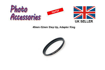 49mm-52mm Step Up Stepping Up Filter Ring Adapter