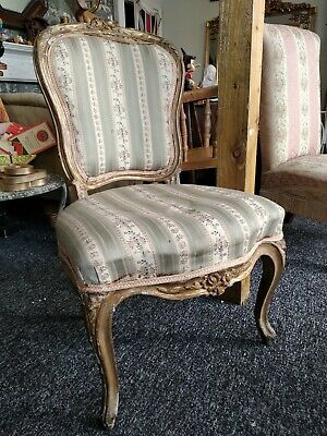 Antique Vintage French Louis XV Armchair Bedroom Chair