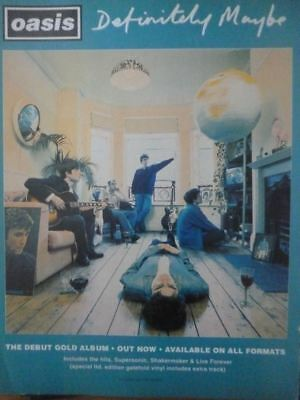 Oasis - Definitely Maybe 1994 Advert - Mini Press Poster