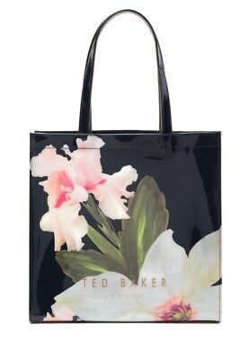 424b0899f NWT - Ted Baker Women - HERMCON Chatsworth Bloom Large Icon Tote - Navy -   59