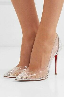 detailed look 30cbd 2a2f8 CHRISTIAN LOUBOUTIN DEGRASTRASS PVC 100 Leather Heels $1195