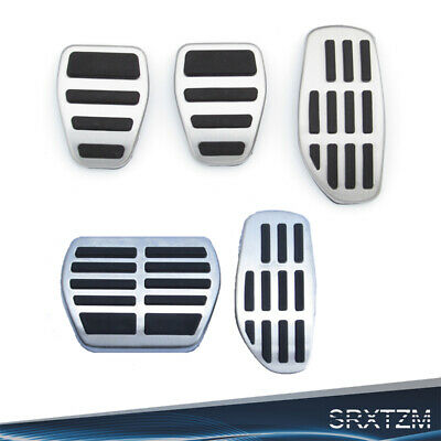 2/3pcs Car Front Foot Pedal Pad Fuel Brake Covers for Nissan Qashqai Micra 17-19