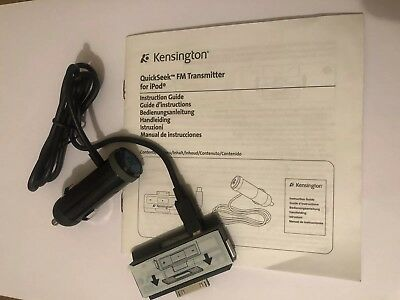 Kensington Quickseek Fm Transmitter For Ipod Brand New