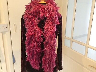 HOT Pink FUSCIA FUNKY BOHO Festival Marks and Spencer M&S LADIES Scarf NEW BNWT