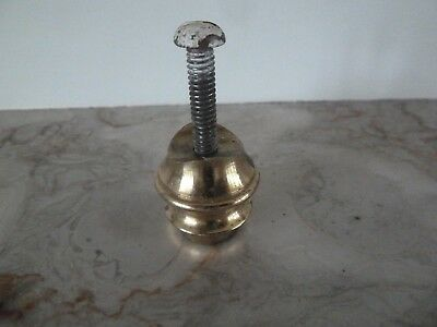 A Genuine Antique Solid Brass Rod End for a  Brass Bed
