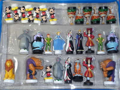 Disney Characters Villains & Heroes Chess Figures Set   .