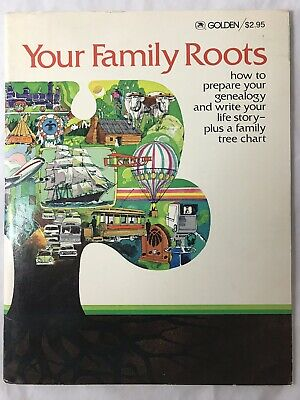 Your Family Roots Golden Press 1977 Genealogy Family Tree Chart Soft Cover