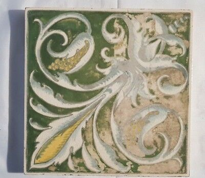 Minton Hand Painted Arts & Crafts Antique 6 Inch Tile