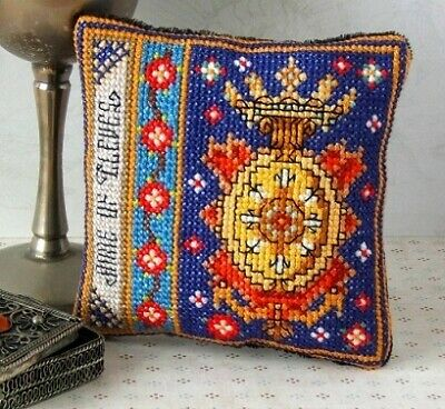 Anne of Cleves Badge Pincushion Cross Stitch Kit, Sheena Rogers Designs