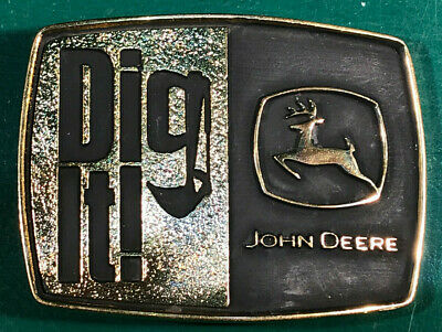 "John Deere ""Dig It"" Belt Buckle Montana Silversmiths"
