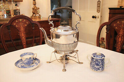 Fine Antique c19th Spirit Kettle, Silver Plate