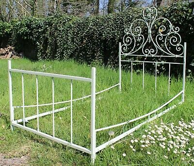 Small Delightfully Pretty French Antique Child's Wrought Iron Bed