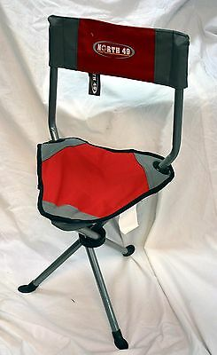 North 49 # 440 folding chair color red and gray ( ref#bte39 )