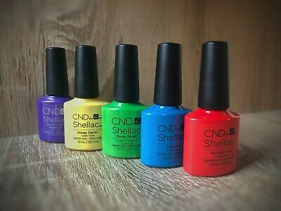 CND SHELLAC UV Nail Polish, 149 Colours, Top and Base Coat, Free Shipping