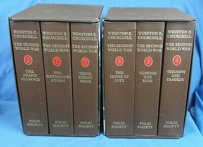 Winston Churchill The Second World War 6 Vol Set Folio Society