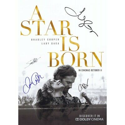 "5  X  PRINTED SIGNED  8 ""x 6 ""  A STAR IS BORN Bradley Cooper and Lady Gaga"