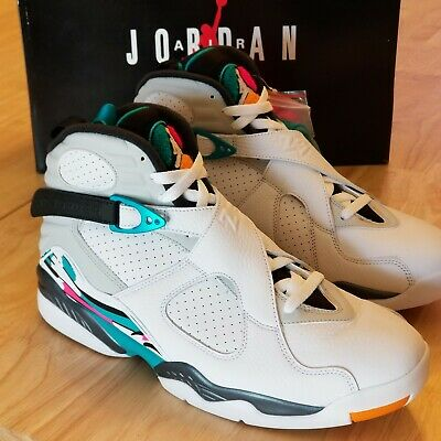 5c0da1a42e8 Nike Air Jordan Retro VIII 8 South Beach Turbo Green Multi 305381-113 Sz 13