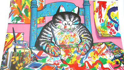 2006 Kliban Cat Calendar 12 Months of Colored Feline Pictures 13 x 12 Inches