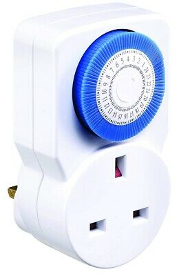 Masterplug TMS24-MP Indoor Power 24-Hour Mechanical Segment Timer Socket