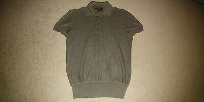 9c0799df Gucci Silk Polo Shirt Olive M (S-XS) UWOT 2005 100% Authentic