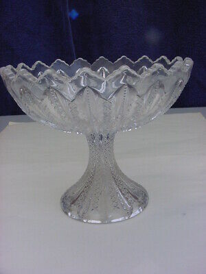 Vintage Pressed Glass Large Compote