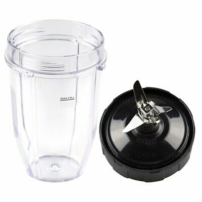 Nutri Ninja 18 oz Cup without Sip Lid and Extractor Blade Replacement Combo