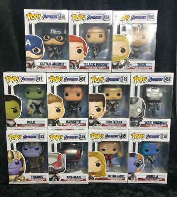 Set of 11 Funko pop Avengers End Game Vinyl Figure with .5mm protector case
