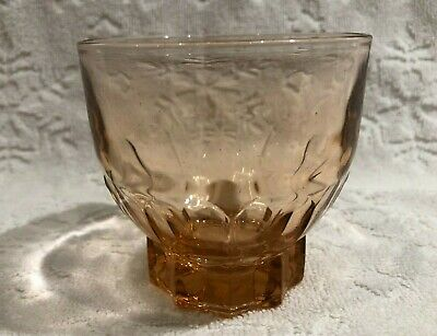 Retro JG DURAND FRANCE; Crystal-Clear PINK-Rosaline Squat Star-Base Spirit-Glass