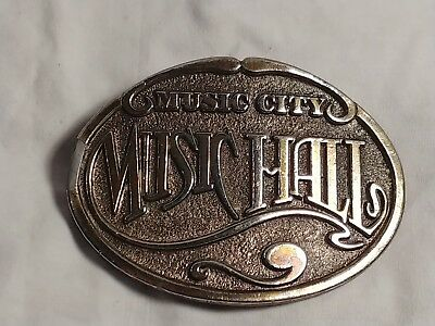 Vintage Music City Music hall Belt Buckle The Great American Buckle Co.
