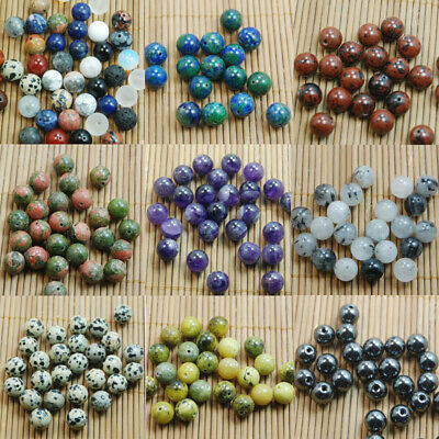 Wholesale DIY Jewelry Making Natural Gemstone Round Spacer Beads 4mm 6mm 8mm10mm