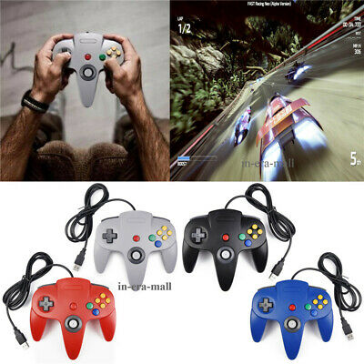 Classic N64 USB Wired Controller Gamepad Joystick For Nintendo 64 Console PC MAC