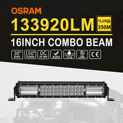"""16INCH LED Light Bar Triple Row Combo Beam Work Driving Off Road 4WD VS 17'' 20"""""""