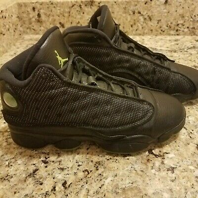 quite nice 8859d 06e14 Nike Air Jordan XIII 13 Retro BLACK ALTITUDE GREEN 6.5 Youth 414574-003