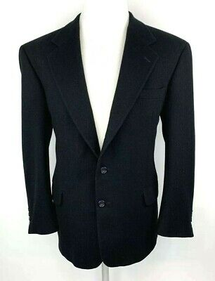 Gianfranco Ruffini Mens 42R Cashmere Blend Blazer Sport Coat Black