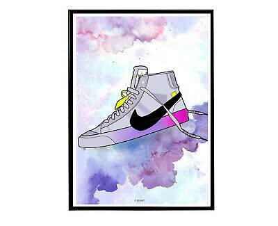 Off White x Nike Blazer Queen Sneaker Poster, Hypebeast Poster Pop Culture