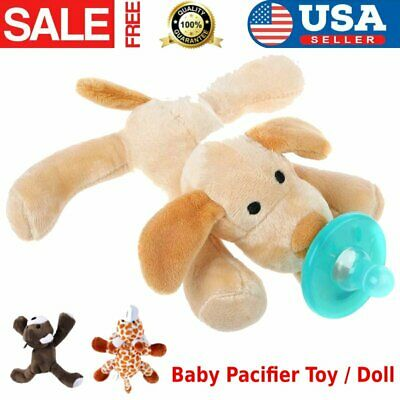 Baby Dummy Pacifier Chain Clip Soft Plush Animal Toy Soother Nipples Holder MY