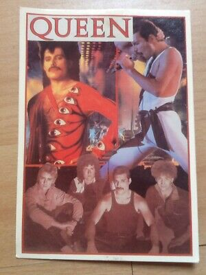 Rare Queen Freedie Mercury Post Card From The 1980s