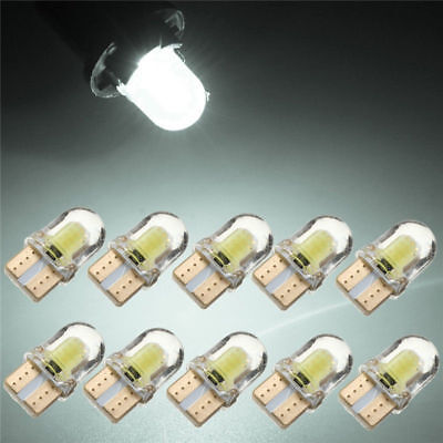10x LED T10 194 W5W COB 8SMD CANBUS Silica Bright White License Light Bulbs& sm