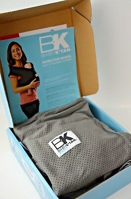 Baby K'tan Breeze Baby Carrier Breathable Cotton Mesh Sling Wrap Gray Small