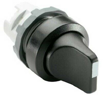 ABB SELECTOR SWITCH 3-Positions 22.5mm Hole, Turn Button, Short Handle, Black
